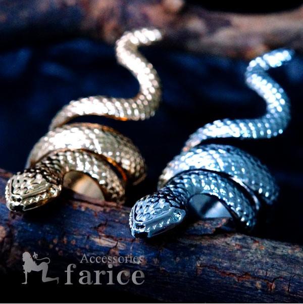 スネークスパイラル 蛇巻き付きデザイン 3D立体型...