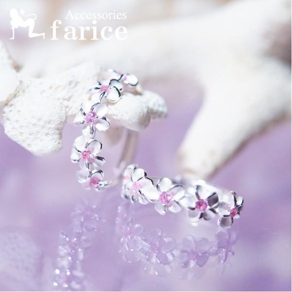5プルメリア(花) ピンクキュービックジルコニア装...