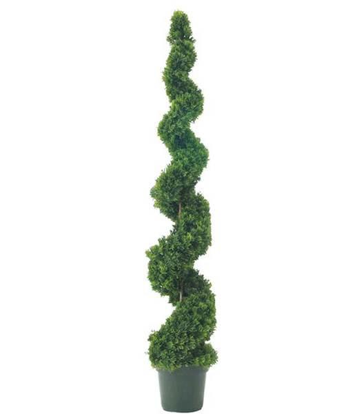 造花 フラワー 観葉植物  150cm スパイラルシダー...