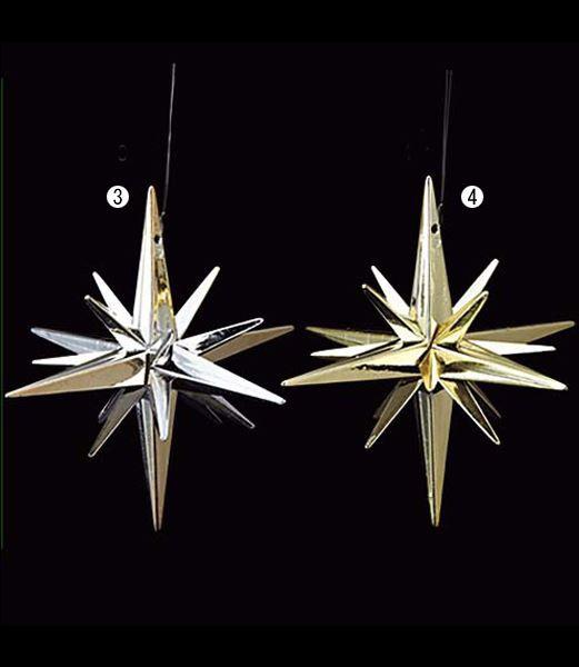 クリスマスツリー飾り 星 10cm 立体シャイニース...