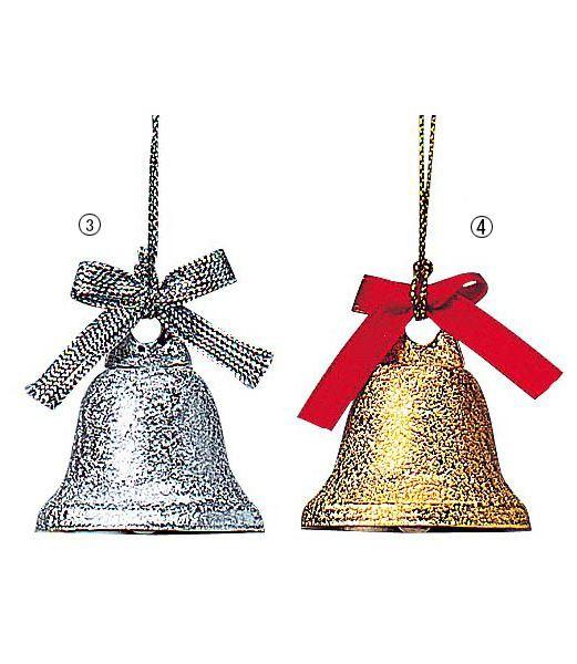 クリスマスツリー飾り 30mm径 リボンベル(6個入...