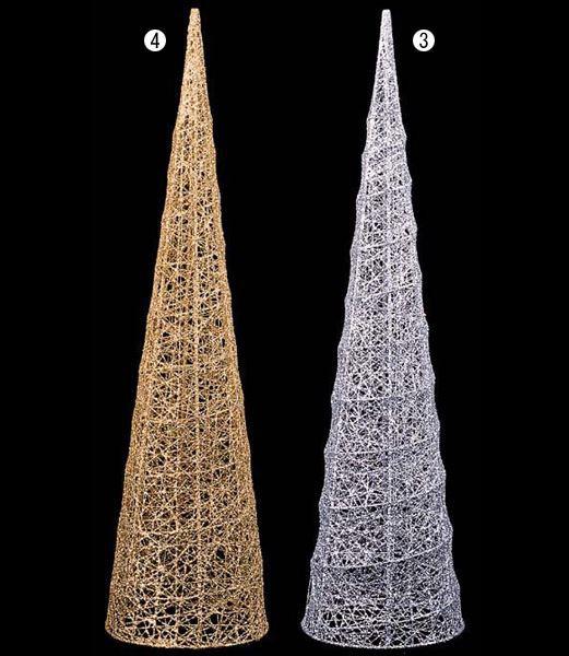 クリスマスツリー装飾 60cm グリッターワイヤーメ...