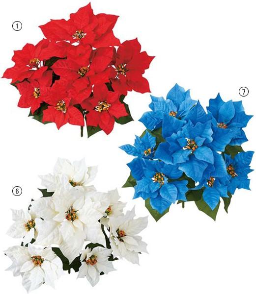 クリスマス装飾 造花 フラワー 花束 エレガントポ...