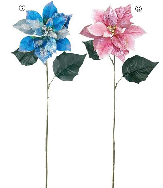 クリスマス装飾 造花 フラワー ベルベットジュエ...