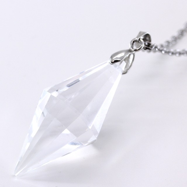 石輝  天然石 水晶 クリスタル ポイント ペンダ...