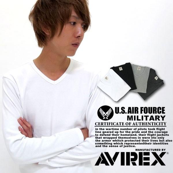 送料無料 AVIREX Tシャツ ロンT 長袖 カットソー ...