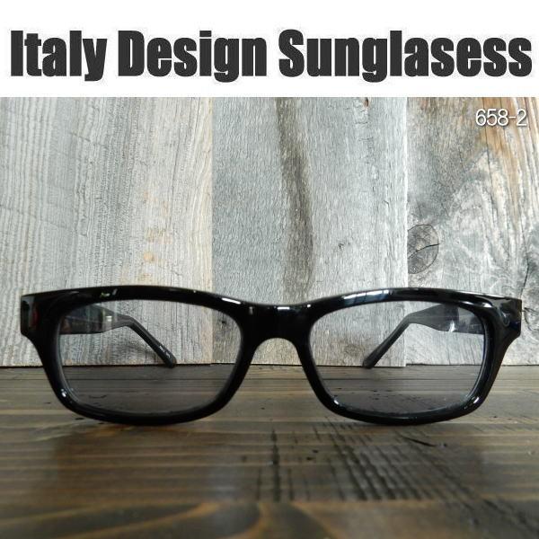 サングラス 黒縁メガネ 伊達めがね Italy Design ...