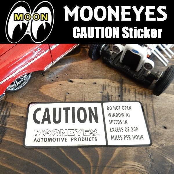 ムーンアイズ MOONEYES  CAUTION Sticker 危険 警...
