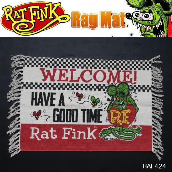 Rat Fink ラットフィンク ラグマット フロアーマ...