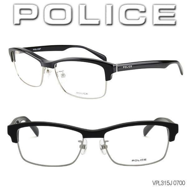 POLICE フレーム 伊達メガネ 黒縁メガネ VPL315J-...