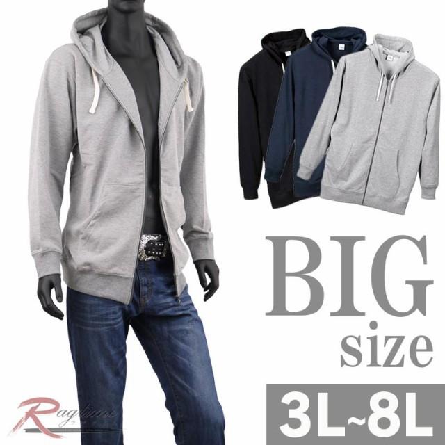 BIGサイズ パーカー 長袖 メンズ 大きいサイズ ジ...