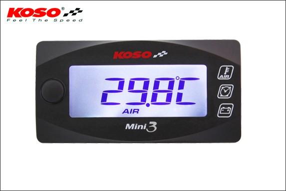 KN企画:KOSO Mini3デジタル(外気温&電圧&時計...