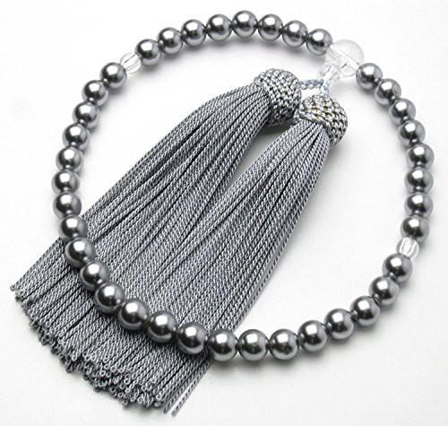 ★念珠堂★ 黒貝パール 女性用数珠 頭付房 全ての...