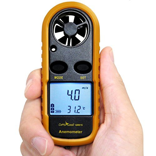 CoMo Good 風速計 デジタル 温度計 簡易測定 小型...