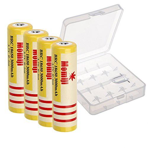 Momiji 高容量充電電池 18650リチウムイオン電池 ...
