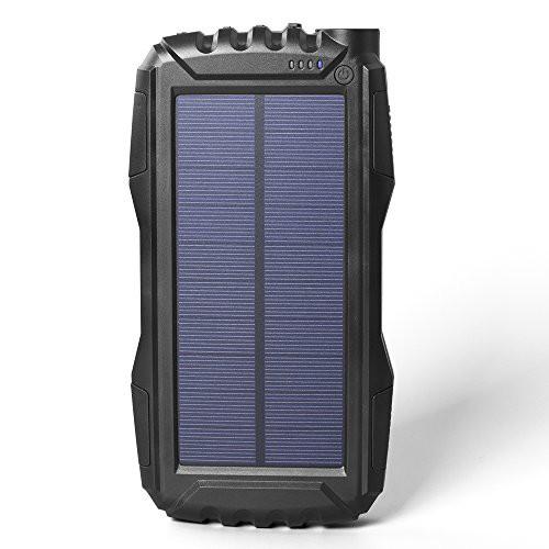 Soluser ソーラーチャージャー 25000mAh超大容量 ...