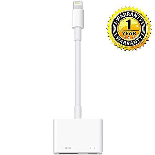 Lightning HDMI AV アダプタ ー iPhoneの画面をテ...