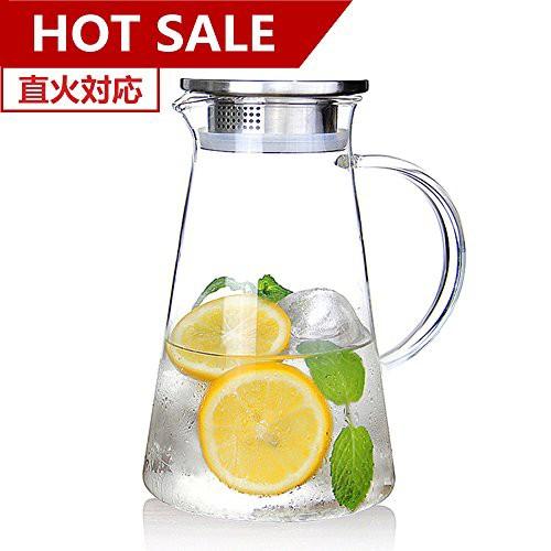 susteas ガラスポット 耐熱 2.0リットル 麦茶 冷...