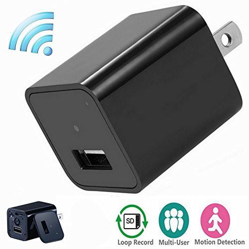 P2P Wifi 隠しカメラ ACアダプター型 充電器IPカ...