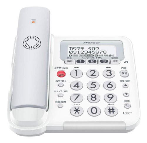 Pioneer デジタルコードレス電話機 親機のみ 迷惑...