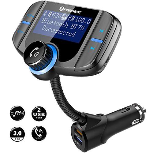 Perbeat FMトランスミッター Bluetooth 4.2 急速...