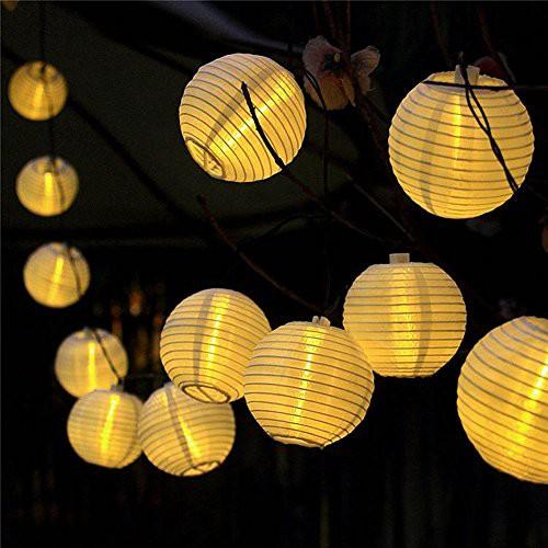 提灯ライト ATPWONZ ちょうちん 6.35M 30球 提灯 ...