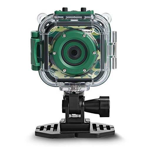 DROGRACE キッズカメラ 水中アクションカメラ 防...