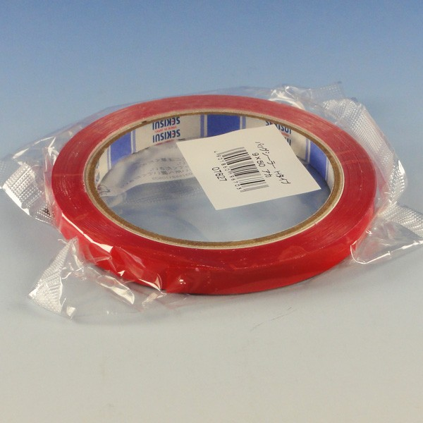 """""""国産"""" バッグシーラーテープ H 9×50 赤 20巻"""