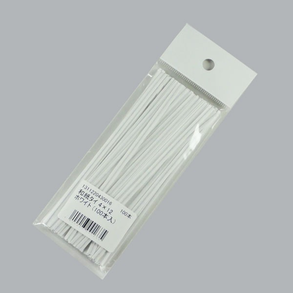【ネコポス可能】和紙タイ100本 4×12 ホワイト...