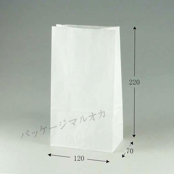角底袋 No.3 晒白無地 (マチ巾7cm) 100枚