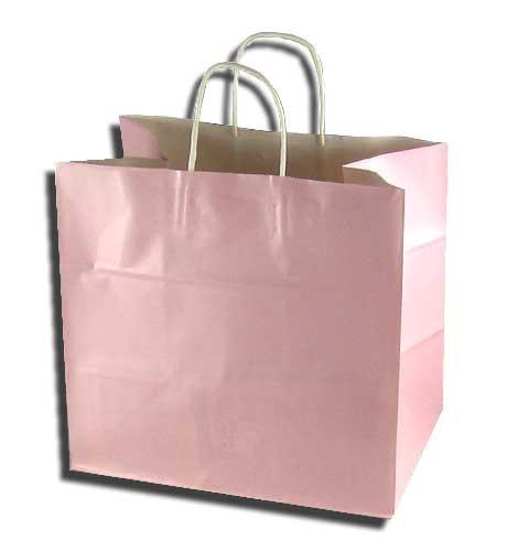 手提げ紙袋 34-1 パールピンク マチ巾広タイプ 5...