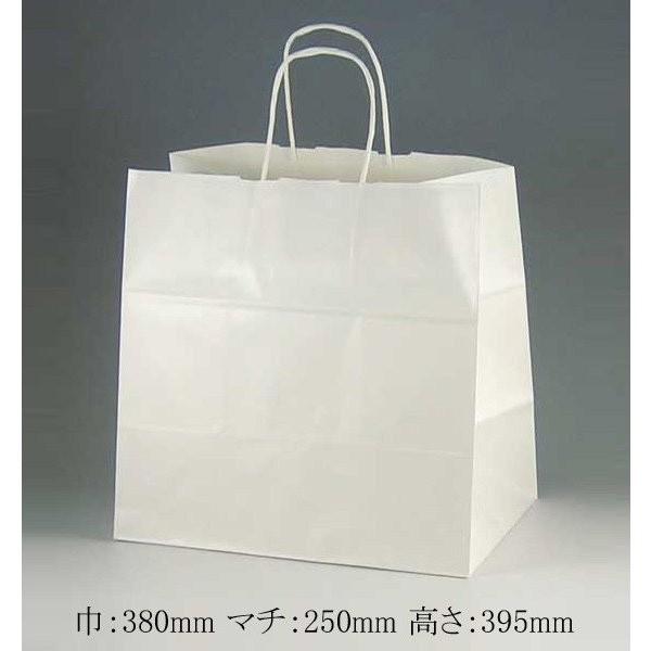 手提げ紙袋 38-4 白無地 マチ幅広タイプ 50枚