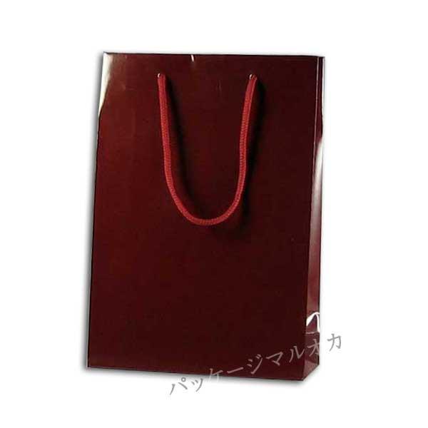 手提げ紙袋 ブライトバッグ SWTエンジ 22.5cm巾 ...