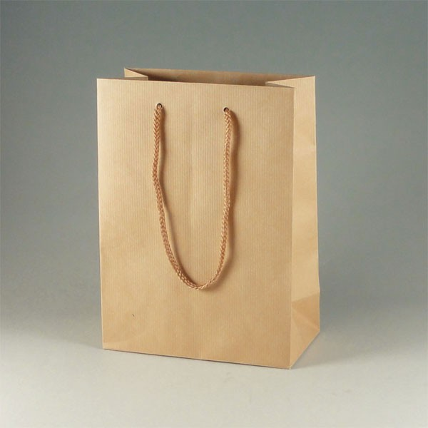 手提げ紙袋 Kバッグ T-3 Nクラフトエンボス(つ...