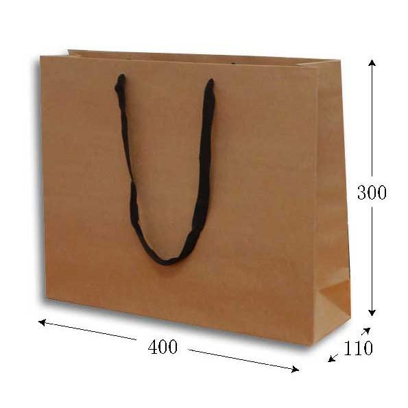 手提げ紙袋 K-400 未晒クラフト無地 40cm巾 10枚