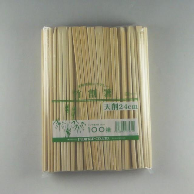 フジ竹箸天削 24cm