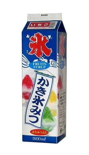<業務用かき氷シロップ> 氷みつ イチゴ はちみ...