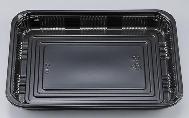 【直送/代引不可】弁当容器 CZ-10 BS黒本体 200...