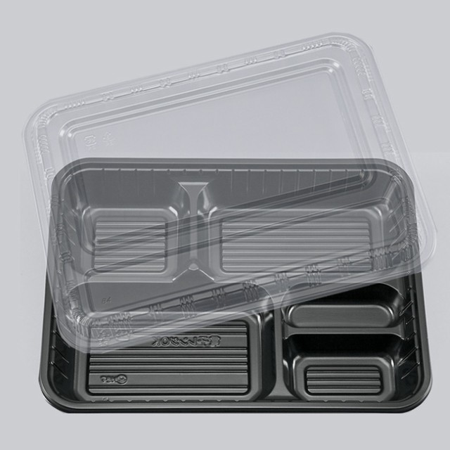 弁当容器 BS弁当84-5 BS黒 新セット 100枚