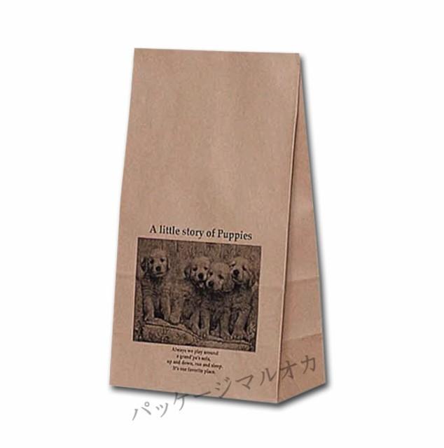 紙袋 K4 リトルストーリー 柄入角底袋 50枚