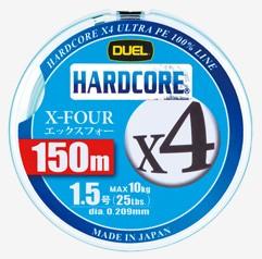●デュエル DUEL ハードコアX4 150M 【メール便...