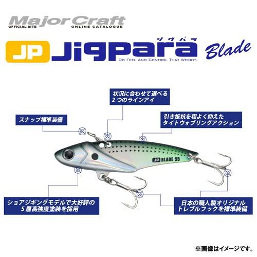 ●メジャークラフト ジグパラブレード JPB-75 18...