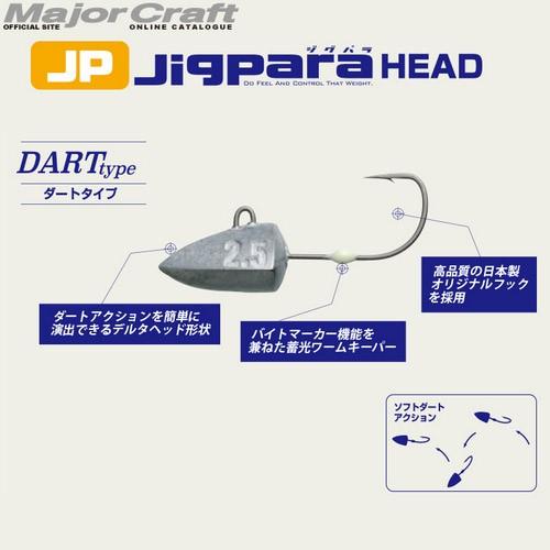 ●メジャークラフト ジグパラヘッド JPHD-DART ...
