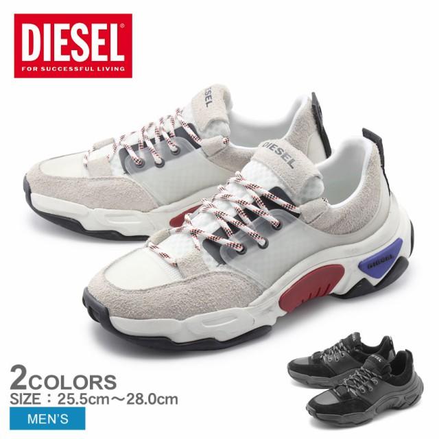 ディーゼル スニーカー メンズ シューズ 靴 白 黒 DIESEL S-KIPPER LOW LACE Y01868-P2087 msho