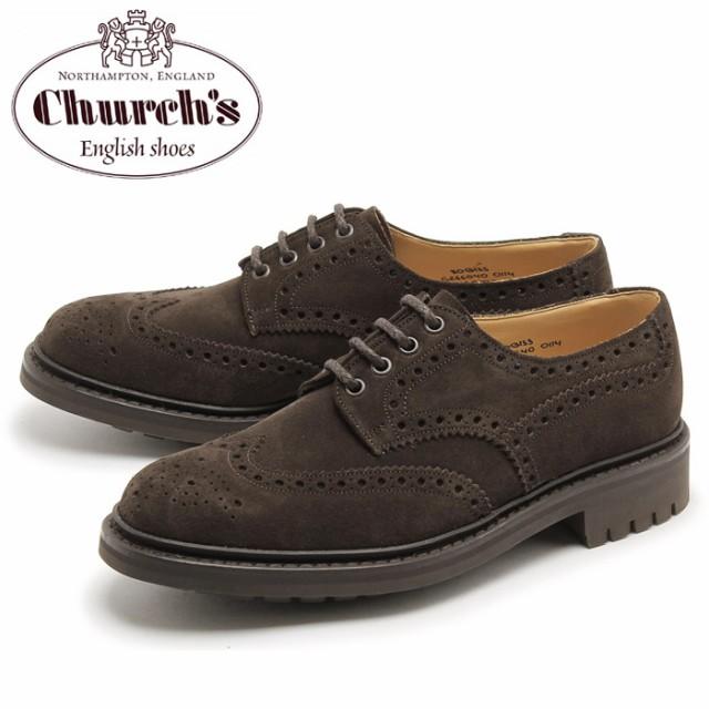 チャーチ ドレスシューズ メンズ マクファーソン CHURCHS MCPHERSON スエード ウイングチップ ブラウン