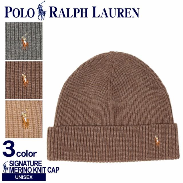 b9e4aa0d207 ポロ ラルフローレン ニット帽 帽子 POLO RALPH LAUREN SIGNATURE MERINO CUFF HAT