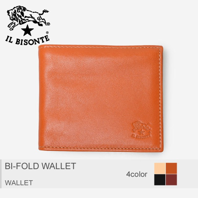1fc15bafb297 イルビゾンテ 財布 メンズ レディース ウォレット 二つ折り ギフト プレゼント IL BISONTE BI-FOLD WALLET C0931