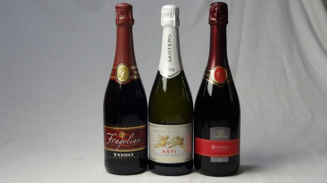 イタリア甘口赤×白スパークリングワイン3本セッ...