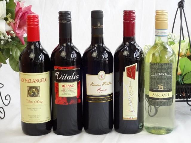 イタリア赤白ワイン5本セット(ミケランジェロ赤...
