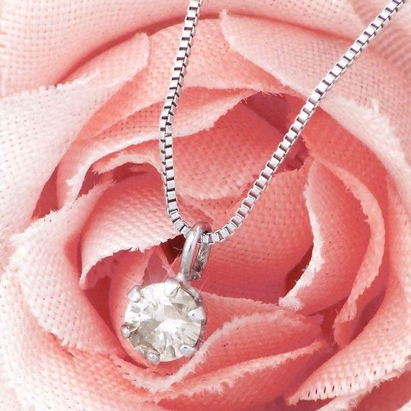 ネックレス レディース 天然ホワイトダイヤモンド...